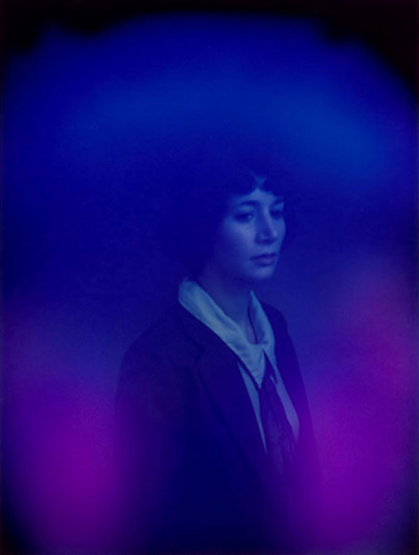 Miranda July, 2009. The AuraCam6000 sees the artist engulfed in violet energy, which represents deep spirituality and mysticism.
