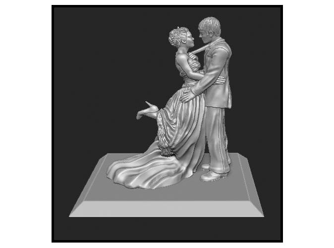 A 3D Wedding Cake topper, courtesy Shapeways, designer Michael Anciello