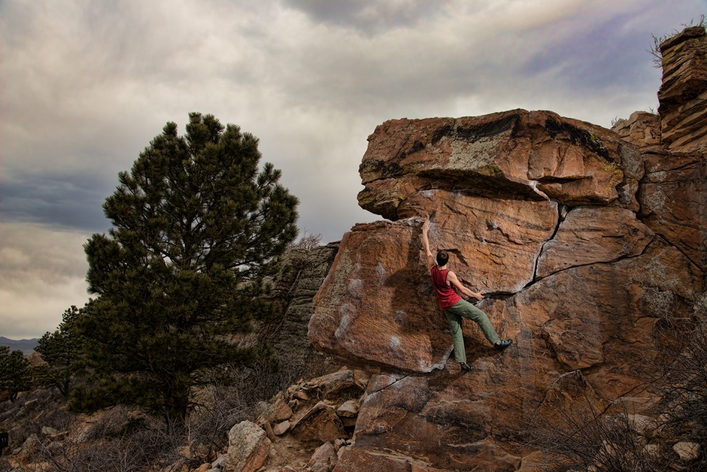 Fort Collins, CO. bouldering at Horsetooth.