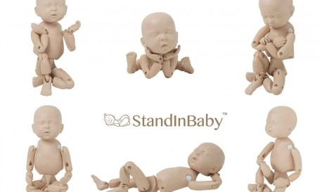 Posing Babies Is Difficult. Posing The StandInBaby Is Not
