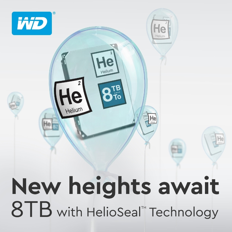Western Digital Expands Its Hard Drives And External Storage Solutions To 8 TB (PRNewsFoto/Western Digital Corp.)