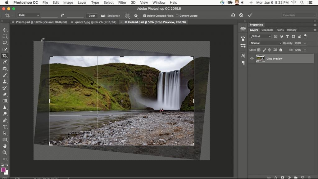 Photoshop_Content Aware Crop_1