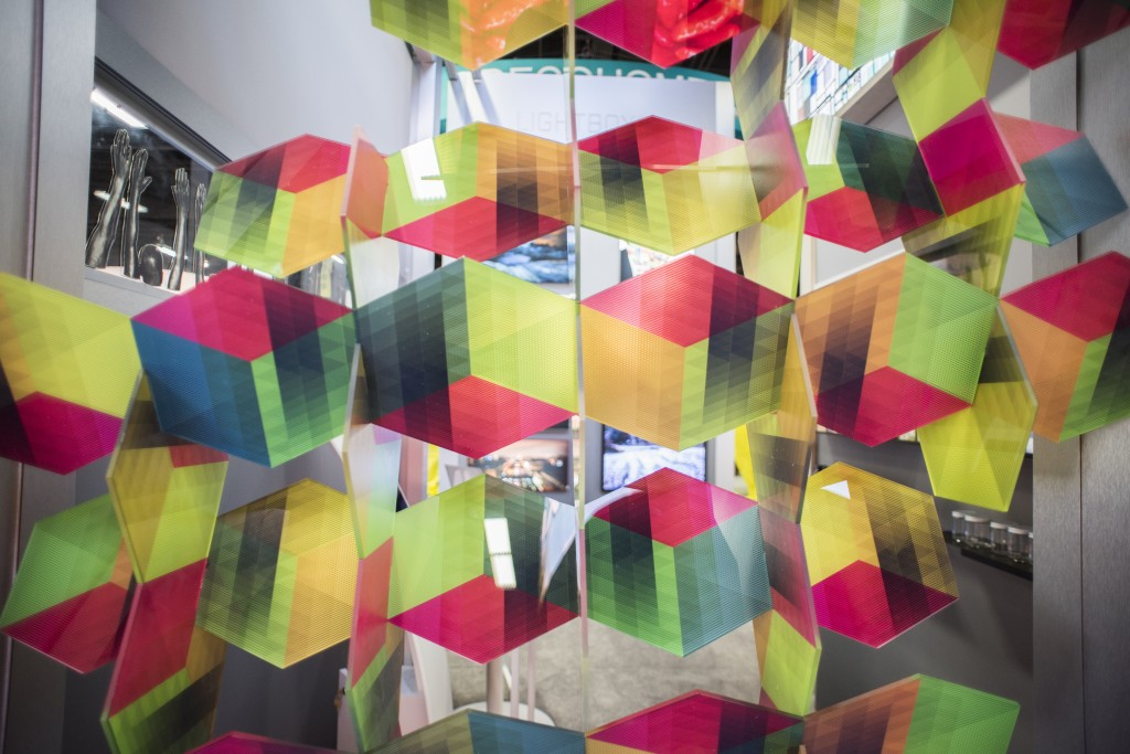An example of Duggal's acrylic bespoke fabrication.