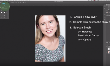 How to Fix Shiny Skin in Photoshop and Lightroom