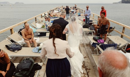 Father/Daughter Pier Wedding Walk [Rf Photo of the Day]
