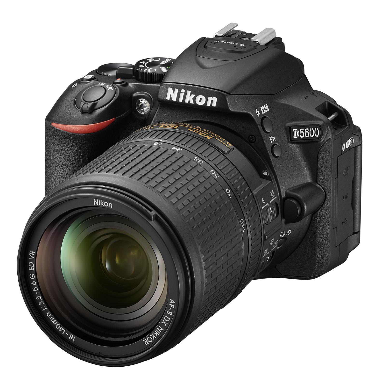 Nikon banks on bluetooth with new d5600 dslr rangefinder d560018140vrfrt34l baditri Images