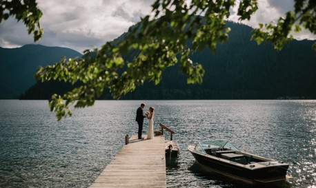 On The Shores of Lake Crescent, By Jonas Seaman [Rf Wedding of the Week]